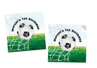 Soccer Party Personalised Square Labels, Square Stickers and Square Tags.