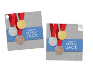 Olympic Games Party Personalised Square Labels, Square Stickers and Square Tags.
