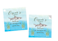 Under the Sea Party Personalised Square Labels, Square Stickers and Square Tags.