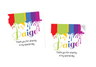 Art Paint Party Personalised Party Stickers, Labels and Tags.