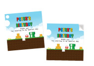 Mario Bros Party Personalised Party Stickers, Labels and Tags.