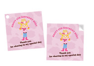 Cowgirl Party Personalised Party Stickers, Labels and Tags.