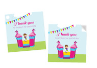 Bounce Jumping Castle Party Personalised Party Stickers, Labels and Tags.