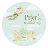 Peterpan Neverland Party Personalised Stickers & Labels