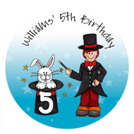 Magician Birthday Party Personalised Edible image, Birthday cake & cookie icing sheets.