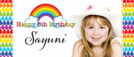 Rainbow Party Personalised Birthday Party Banner