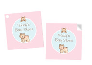 Baby Bear Square Personalised Stickers, Labels and Tags.