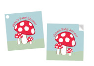 Toadstools Square Personalised Stickers, Labels and Tags.