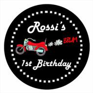 Motorbike Motorcycle Birthday Cake Edible Image Icing Sheet.