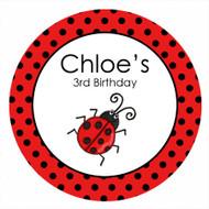 Red Ladybug Ladybird Birthday Cake Edible Image Icing Sheet.