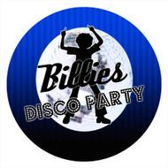 Boys Blue Disco Personalised Birthday Cake Icing - Edible Image.