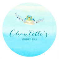 Sea Turtle Personalised Birthday Cake Icing.