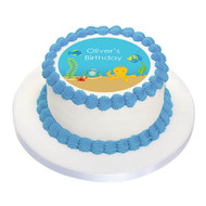 Sea Creatures Party Personalised Birthday Cake Icing.