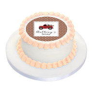 Birthday Cake Edible Image - Vintage Fire Truck on Brick