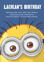 Minion Inspired Party Invitation.