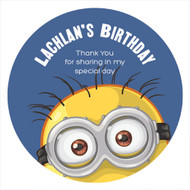 Minion Inspired Personalised Party Spots Labels and Stickers.