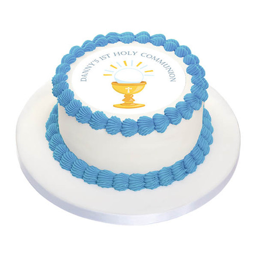 First Holy Communion Cake Edible Image Chalice