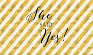 Gold She Said Yes Wedding or Engagement Banners and Backdrops