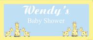 Personalized baby shower banner - baby giraffe theme - buy online