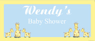 Personalized baby shower banner - baby giraffe theme - buy online