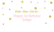 Twinkle Twinkle Little Star First birthday party banners
