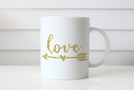 Golden Love Arrow Coffee Mug