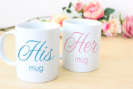 Set or His & Her Mugs