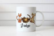 Custom personalised cat mug