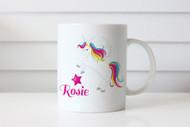 Unicorn personalised custom name coffee mugs