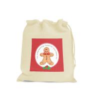 Custom Calico Bags - Gingerbread Man