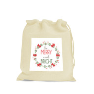Be Merry & Bright Custom Calico Christmas Gift Bags