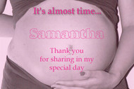 Personalised baby shower invitations - Its almost time pregnant belly theme