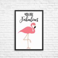You are Fabulous Pink Flamingo Wall Deco Art