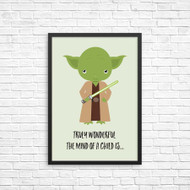 Yoda from Star Wars Inspired Wall Art Prints