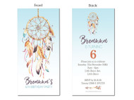 Dream Catcher Birthday Party Invitations