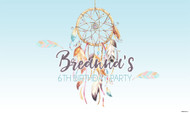 Dreamcatcher party backdrops and banners