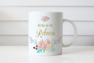 Peonie Bride to Be Personalised Mug