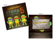 Teenage Mutant Ninja Turtles party invitations - TMNT