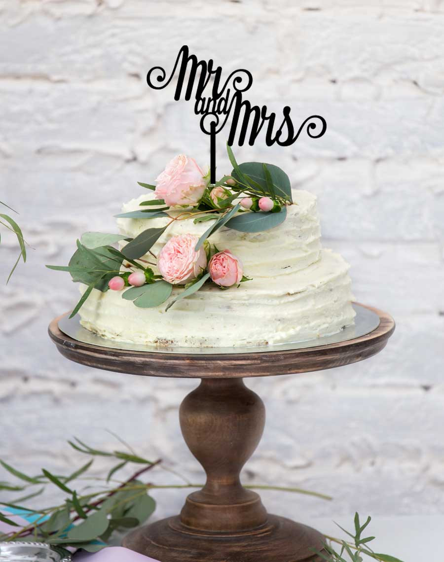Mr & Mrs cake topper for wedding cakes