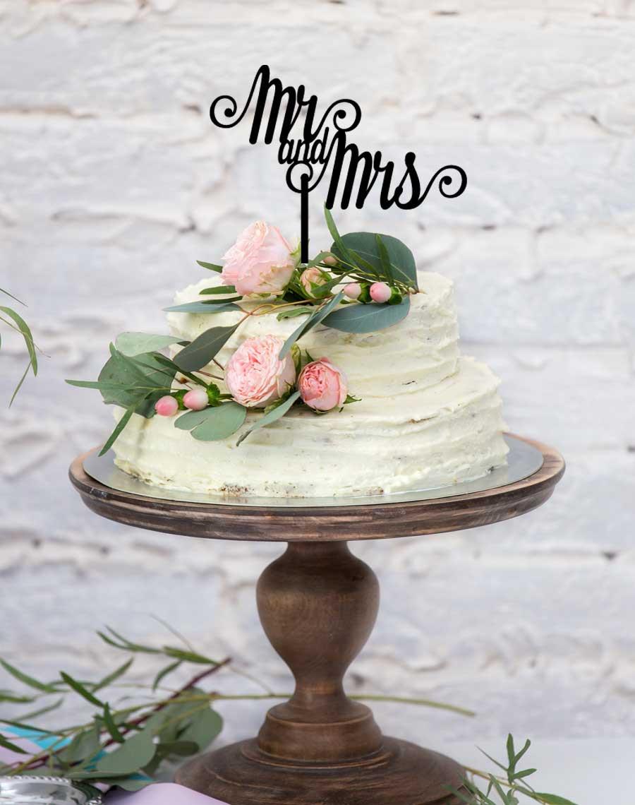 Mr U0026 Mrs Cake Topper For Wedding Cakes ...