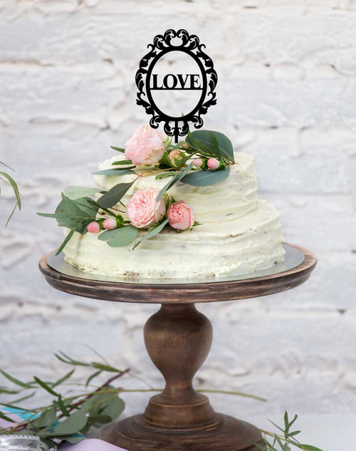 Wedding cake topper - love in a frame