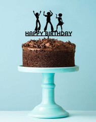 Disco Birthday Party Arcylic Cake Topper