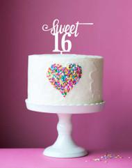 Sweet 16 Acrylic Cake Topper