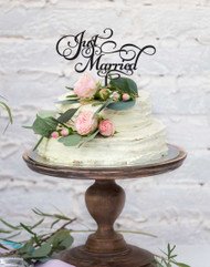 Just Married Acrylic Wedding Cake topper