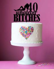 40th Birthday Acrylic Custom Cake Topper