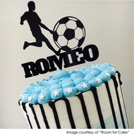 Custom name soccer player cake topper