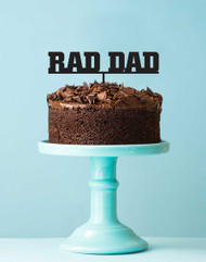 Rad Dad Birthday Cake Topper