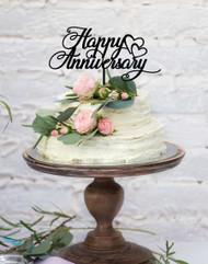 Happy Anniversary Wedding Anniversary Cake Topper