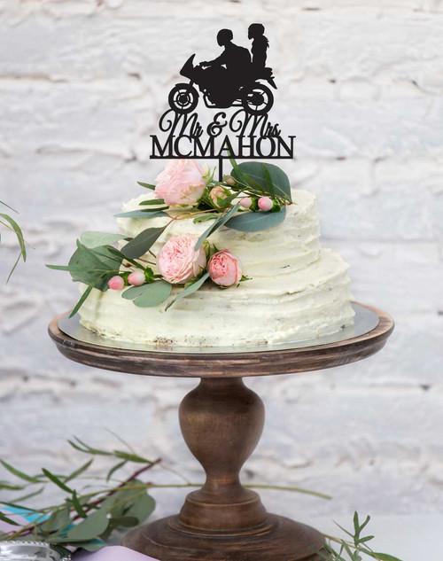 Wedding Motorbike Cake Topper