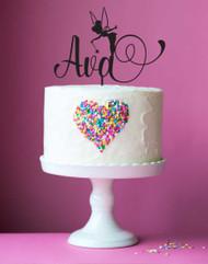 Personalised Custom Tinkerbell Fairy Cake Topper
